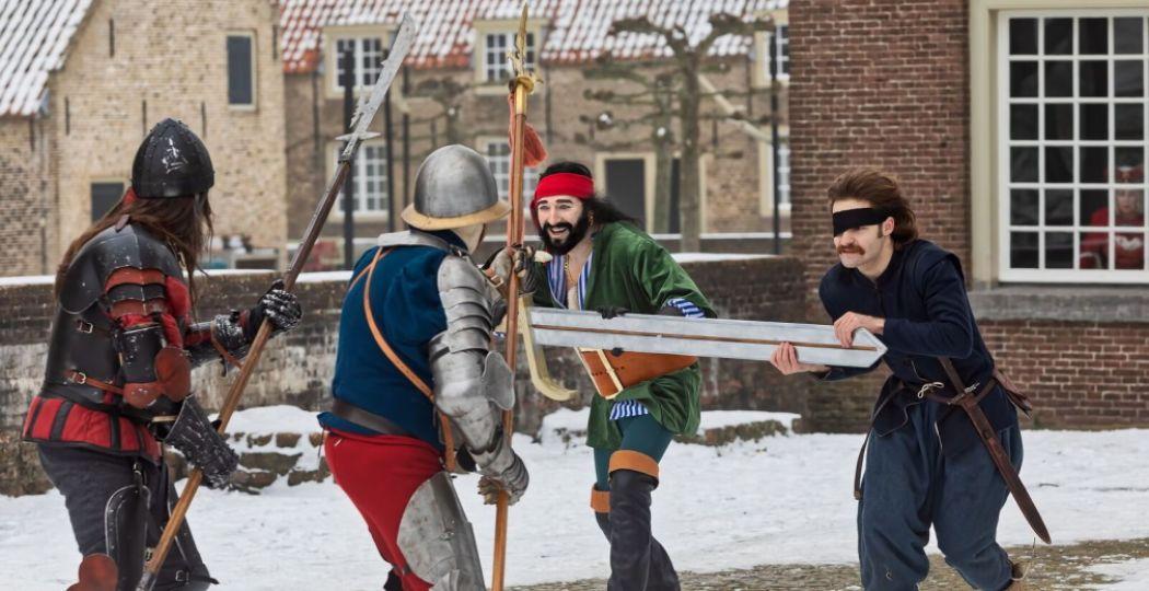 Jonge acteurs brengen 'Floris' weer helemaal tot leven op Slot Loevestein. Foto: Johan Wouters.