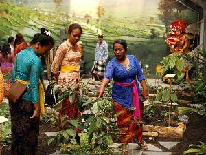 Schattig en exotisch: de rijstvogel. Foto: Taman Indonesia.
