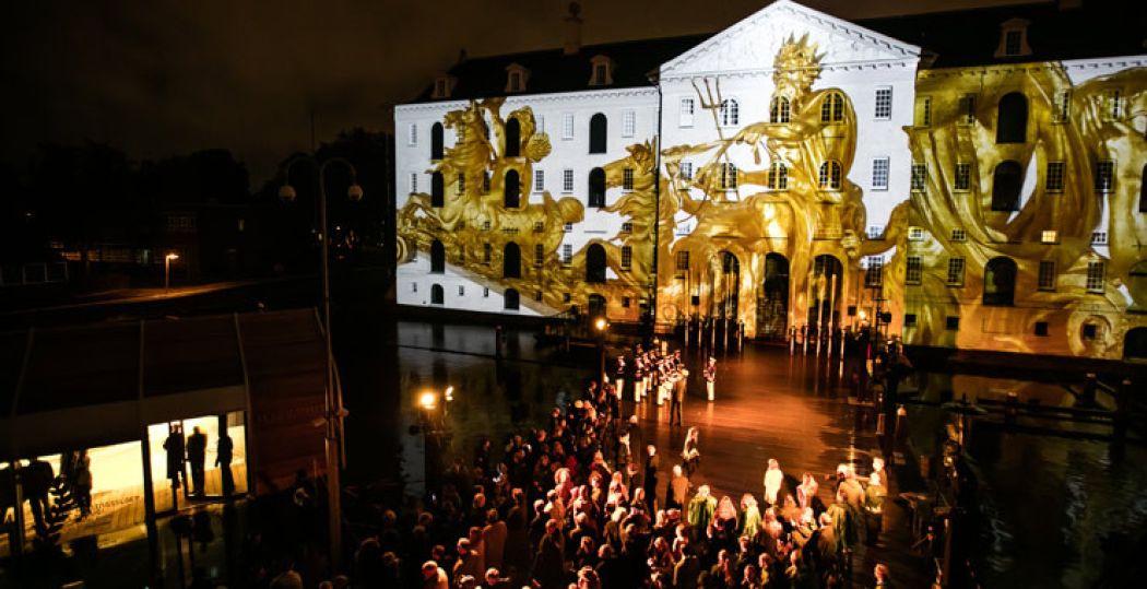 De terugkeer van de Koningssloep bij Het Scheepvaartmuseum werd groots gevierd. Foto: Het Scheepvaartmuseum