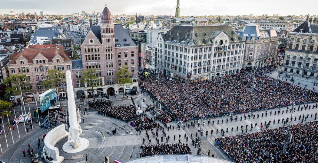 In 2020 herdenken we het beëindigen van de Tweede Wereldoorlog, 75 jaar geleden. Foto: Nationaal Comité 4 en 5 mei, Nationale Herdenking 2019 © Ben Houdijk.