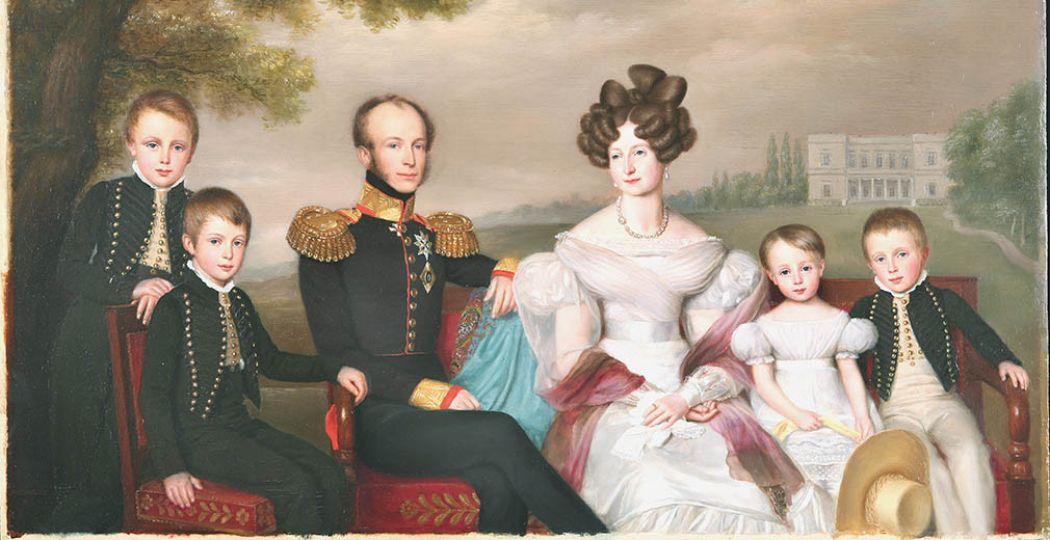 Familieportret van de latere Koning Willem II. Foto: © Koninklijke Verzamelingen