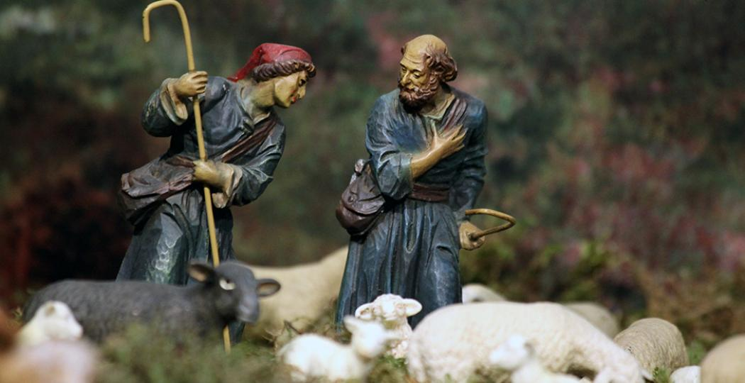 De Grootste Kerststal van Europa is dit jaar opnieuw te zien, bij nieuwe eigenaar Museumpark Orientalis. Vol prachtige taferelen als deze herders, dus mis het niet! Foto: Museumpark Orientalis