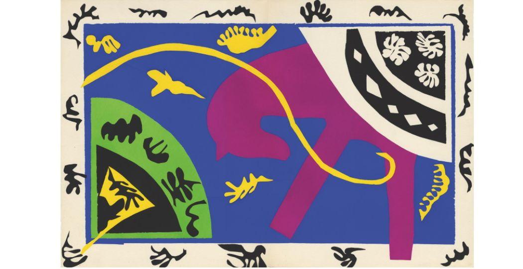 Henri Matisse, Het paard, de ruiter en de clown, 1947, Kunstmuseum Pablo Picasso, Münster, © Succession Henri Matisse, Pictoright Amsterdam 2019.