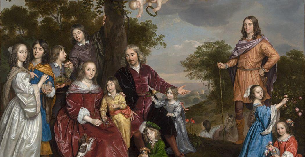 Jan Mijtens, Portret van Willem van den Kerckhoven en zijn familie, 1652-55, Collectie Haags Historisch Museum. Foto: Rijksmuseum Twenthe.