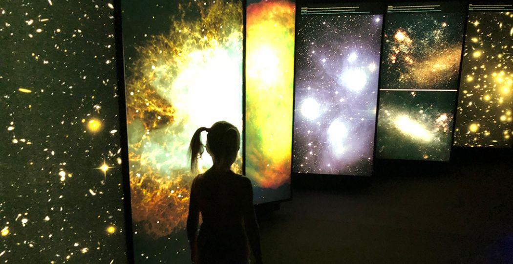 Reis door het heelal deze kerstvakantie bij Space Expo. Foto: Space Expo.