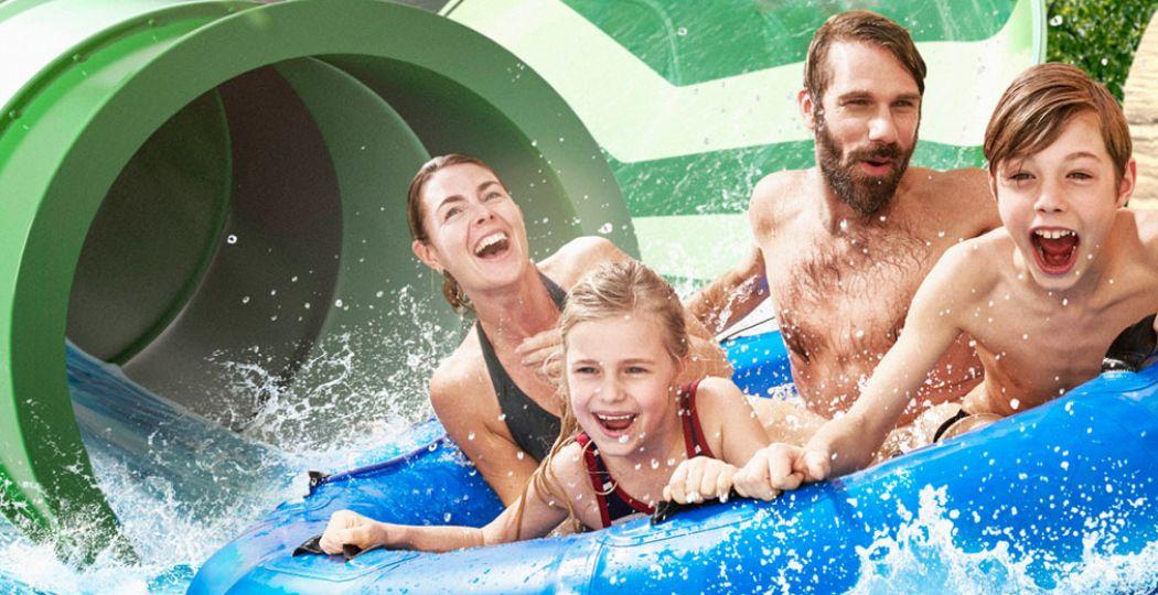 Bellewaerde Aquapark in Ieper is open! Foto: campagnebeeld Bellewaerde Aquapark