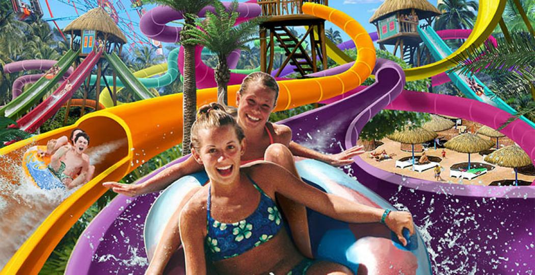 Ga deze maand al van een van de glijbanen in het slidepark. Foto: MediaTornado, Aquaventura Slidepark Hellendoorn.