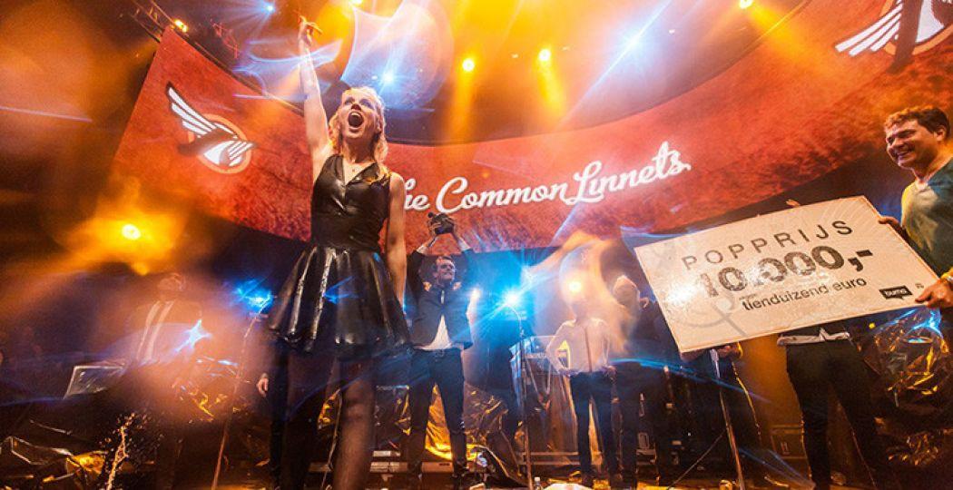 The Common Linnets ontvingen de Popprijs tijdens Noorderslag vorig jaar. Foto: Bart Heemskerk.