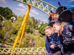 Trotseer de legendarische houten achtbaan Troy. Foto: Attractiepark Toverland.