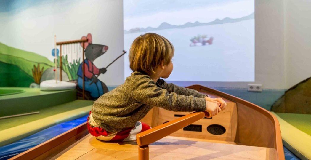 Op avontuur met Kikker in het Kinderboekenmuseum. Foto: Kinderboekenmuseum / Sarah Dona