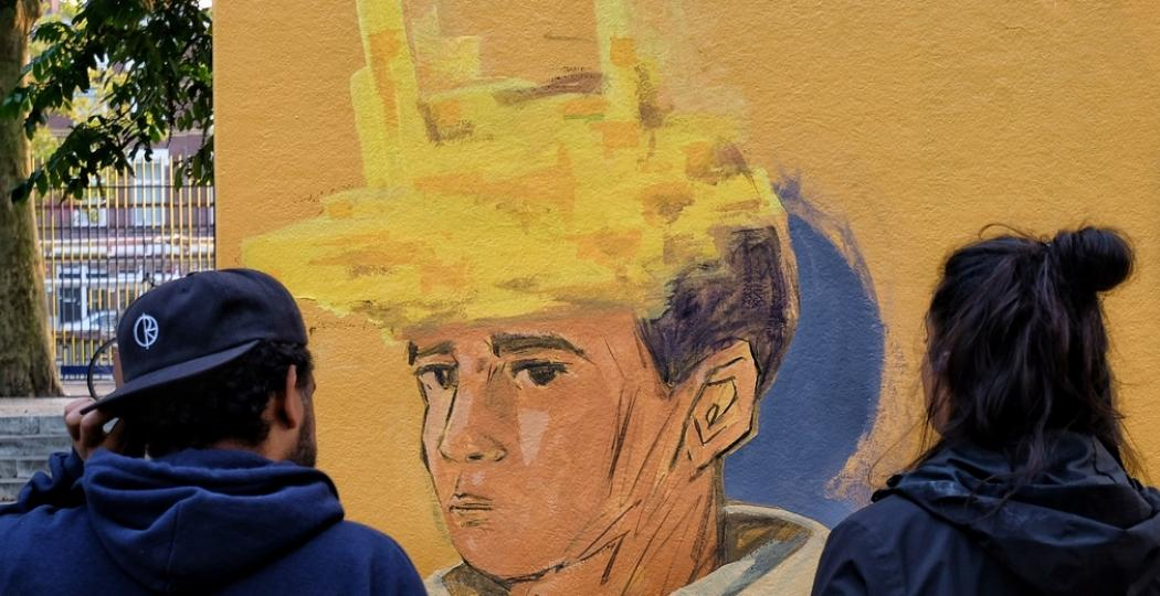 Street art van Erico Smit in de Afrikaanderbuurt Rotterdam. Foto: Pow! Wow! Rotterdam © Martine Kiers