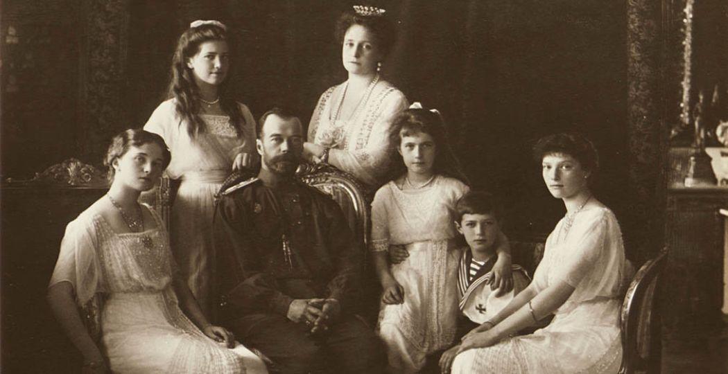 Het gezin van tsaar Nicolaas II, 1914. Foto: Atelier Boissonnas & Eggler © GARF, State Archive of the Russian Federation.