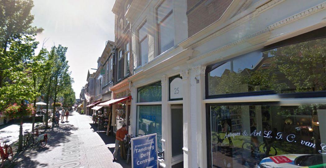 Voldersgracht 25 in Delft. Foto: Google Streetview