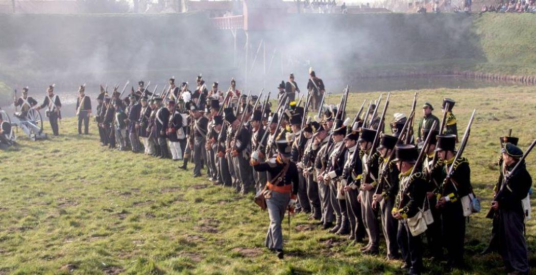 Tijdens de Slag waan je je in 1814. Foto: Vesting Bourtange