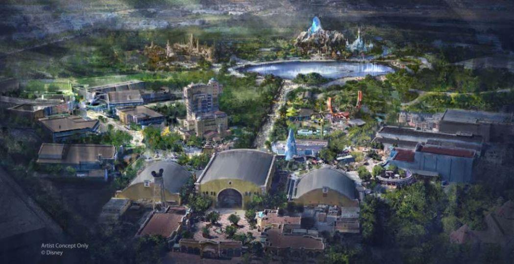 Het conceptplan voor het vernieuwde Walt Disney Studios Park. Foto: Disney