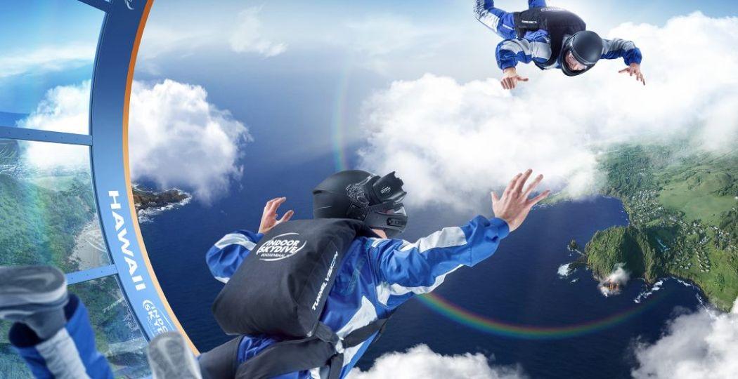 Net of je boven Hawaï zweeft! Foto: Indoor Skydive Roosendaal