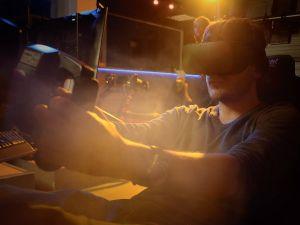 VR met racesimulator VRF1