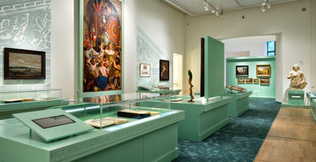 Expositie over de geschiedenis van het Mauritshuis. Foto: © Ronald Tilleman. Mauritshuis, Den Haag