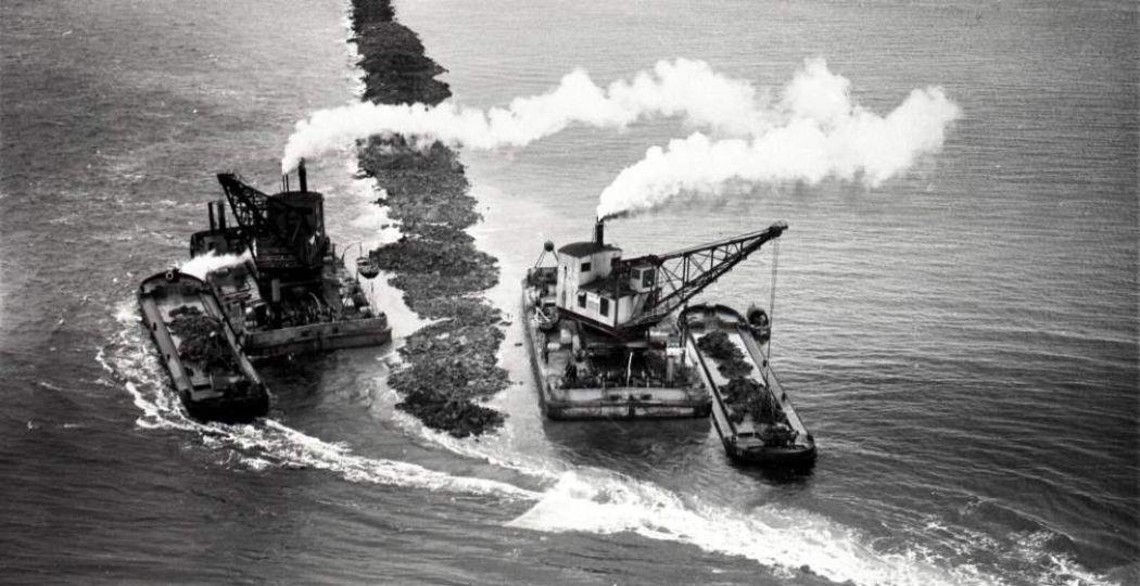 Honderd jaar geleden begon de inpoldering van de Zuiderzee. Foto: Commissie 100 jaar Zuiderzeewet