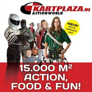 Kartplaza Actionworld: karten, klimmen, paintball en bowlen