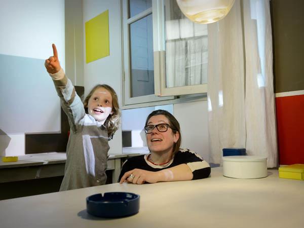 Het Mondriaanhuis is leuk voor kinderen! Foto: Mike Bink.
