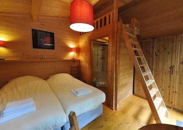 Blijf slapen in het knusse chalethotel. Foto: Polysport.