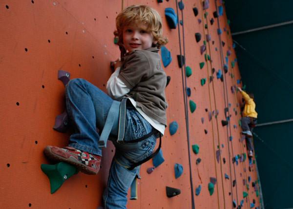 Op de klimwand