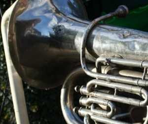 Welkom geheten door een trombone