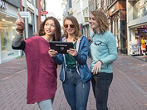Elke winkelgevel kan een aanwijzing bevatten. Foto City Challenge App