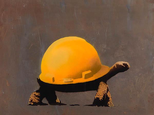 Banksy: Tortoise Helmet Steel (2009)
