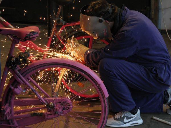 Ook oude fietsen kun je prima gebruiken. Foto: De Spelerij