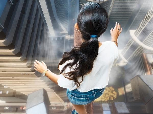 Balanceer op een hoog gebouw! Foto: VR4play