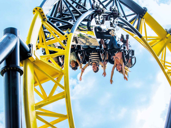 Durf jij over de kop? Foto: Walibi Holland.