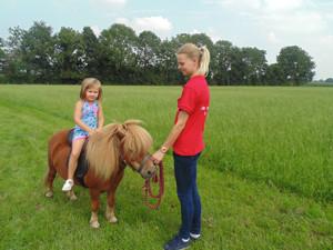 Rij een rondje op een pony.