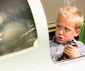 Bestuur een F16-simulator.