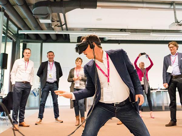 Een VR experience op locatie.