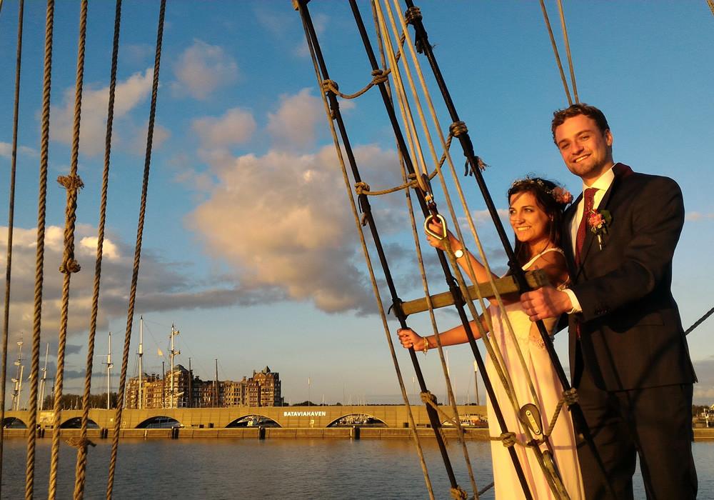 Romantisch feest op zee