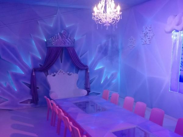 Voor stoere meiden is er de themakamer Ice princess. Foto: Monkey Town Heerlen