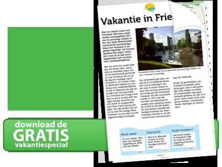 Download nu de Friesland vakantiebijlage