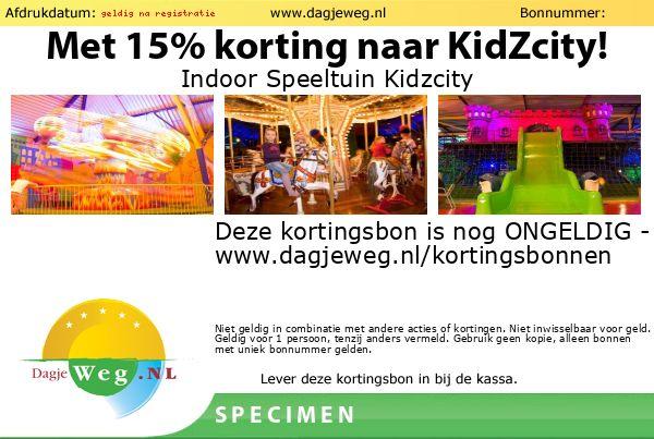 Kortingsbon Indoor Speeltuin Kidzcity SPECIMEN