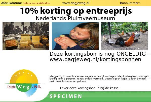 Kortingsbon Nederlands Pluimveemuseum SPECIMEN