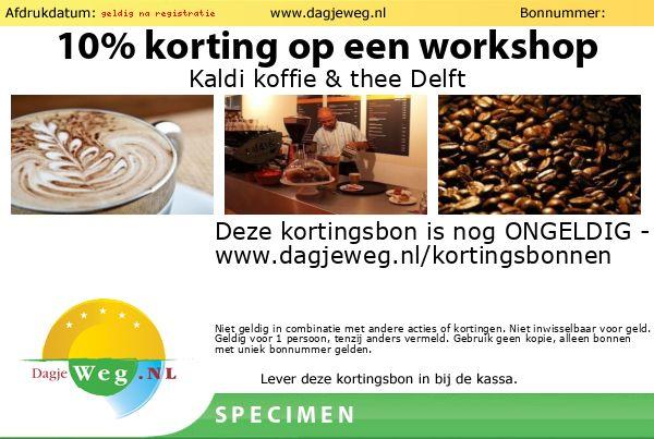 Kortingsbon Kaldi koffie & thee Delft SPECIMEN